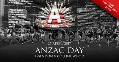 Essendon v Collingwood - ANZAC DAY 2017