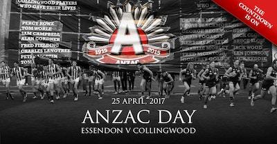 Essendon v Collingwood - ANZAC DAY 2017