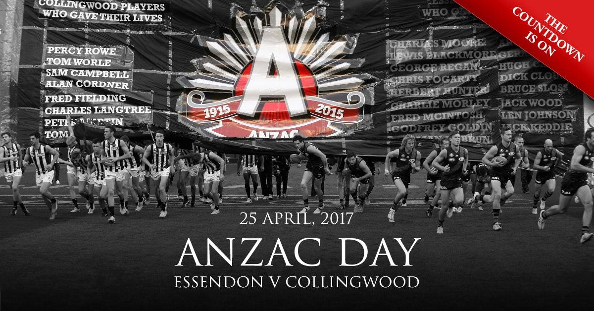 Essendon V Collingwood Anzac Day 2017