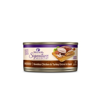 WELLNESS CORE Signature Selects Shredded Chicken & Turkey Entrée in Sauce Wet Cat Food 79G