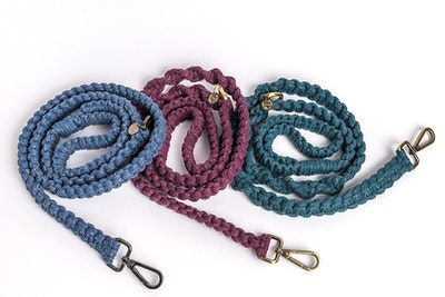 The Boho Pet Macramé Dog Lead - Limited Edition Metallics Range