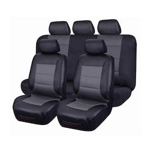 Leather Look PVC Seat Covers for Mitsubishi Triton ML MN Dual Cab 06/2006 - 2015