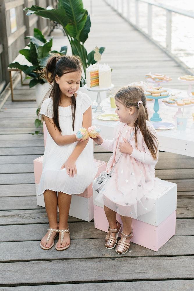 LENZO Betts Kids Summer Sandals Party