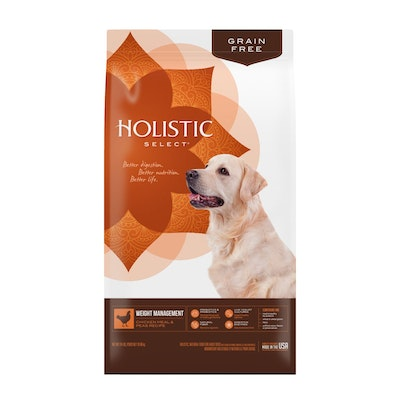 HOLISTIC SELECT Grain Free Weight Management Chicken & Peas Dry Dog Food 10.9kg