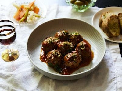 Bar Lourinha Spanish Pork & Pistachio Meatballs