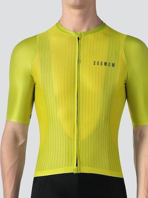 Soomom Men's Lightweight Cycling Jersey - Lemon