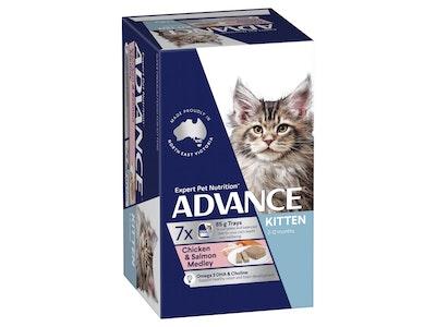 Advance Kitten Chicken & Salmon Medley 85G X 7 Cans