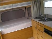 Jayco Work N Play bed and kitchen Hastings Sept 2013 016