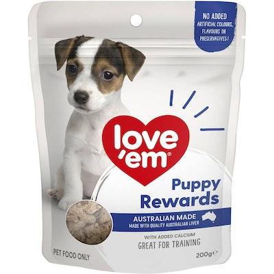 Love'em Love Em Puppy Rewards Liver Dog Training Treats 200g