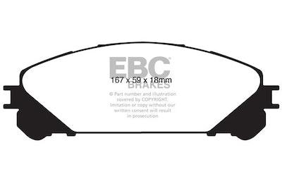EBC ULTIMAX FRONT BRAKE PADS for Toyota Kluger GSU40 GSU45 6/2007-2014 DP1837