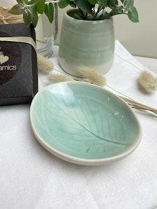 Botanical Egg Dish - small  in Dusty Eucalyptus Green