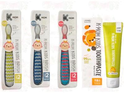 K-Mom Kids Toothpaste & Step 2 Toothbrush Set