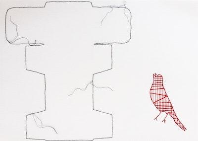 Tracy Stirzaker Songbird Red - Original Artwork