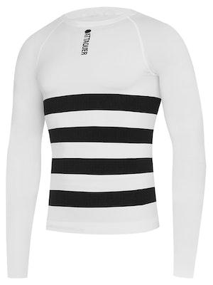 Attaquer Undershirt Winter Weight Long Sleeved White