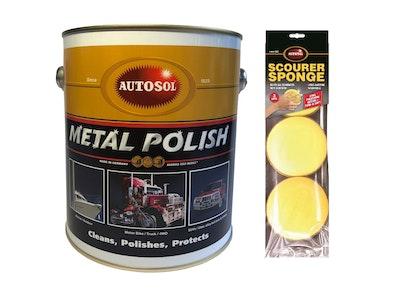 Metal polish 2.6kg + FREE Autosol Scourer Sponge 3-pack
