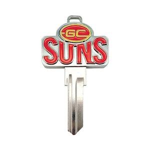 Creative Keys AFL Team Logo Key Blank LW4 – Gold Coast Suns