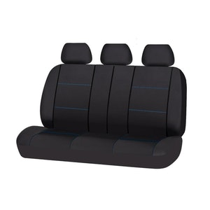 Universal Lavish Rear Seat Cover Size 06/08S | Black/Blue Stitching
