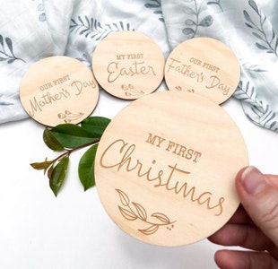 Baby Milestone Plaques - Special Firsts, Christmas, Father's Day