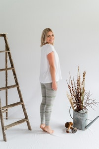 Travel Pants - Grey Marle/Moss Green