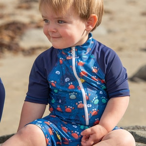 TicTasTogs Short sleeve Sunsuit 'Comic Crab'