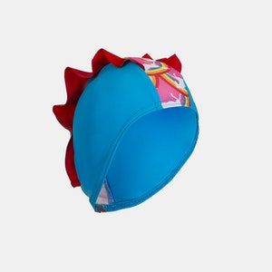Junior Child Swim Cap - Rainbow Pony Frills