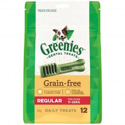 Greenies Grain Free Regular Dental Dog Treats Pack 340G
