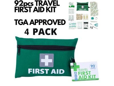 Boutique Medical 4x 92pcs TRAVEL FIRST AID KIT Medical Workplace Set Emergency Family Safety Office