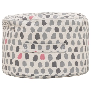 Play Pouch Splotches Ottoman - Pink & Grey