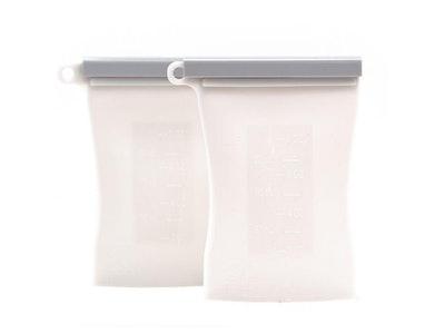 Junobie Reusable Silicone Breastmilk Storage Bags- 2pk (Grey)