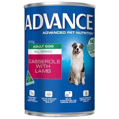 Advance Adult Casserole with Lamb Wet Dog Food 410G