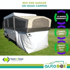 """Jayco """"Touring"""" On-Road Camper Trailer Bed End Garage Storage Room Annex Cubby"""