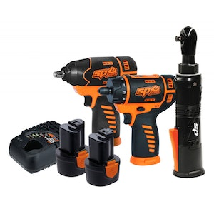 Cordless Combo 3 Piece 12V Impact Screwdriver Ratchet Wrench SP82141