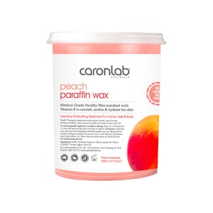 Caronlab Paraffin Wax Peach 800ml Manicure Pedicure Moisture Treatment