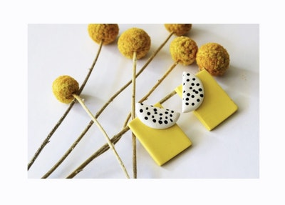 Yellow Rectangles Large Studs
