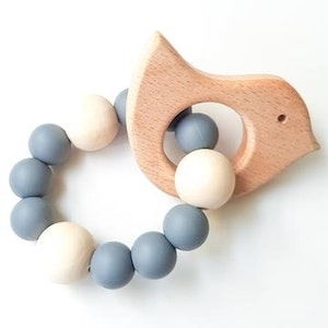On Chic Baby Clothes Birdy Teething Ring