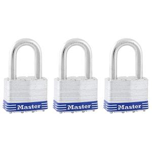 Master Lock 5TRILFPF 51mm Wide Laminated Steel Padlocks Keyed Alike 3 Pack