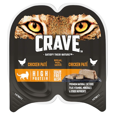 CRAVE Perfect Portions Chicken Pate Wet Cat Food 75G
