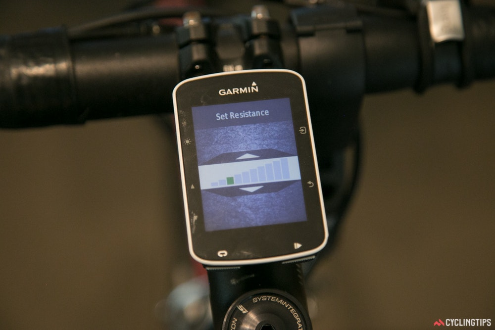 Tacx Neo Smart trainer Garmin screen