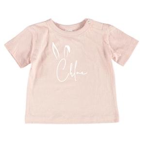 Personalised Easter Name Tee - Baby Pale Pink