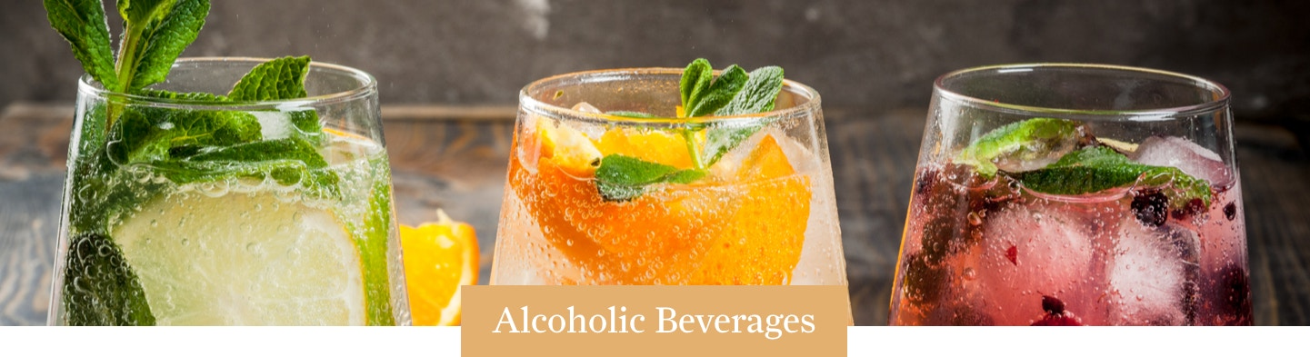 Alcoholic Beverages Banner