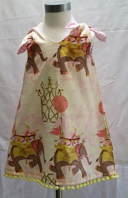 Handgrown Threads Dress - size 1-2 - Elephants