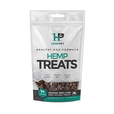 Hemp Pet Organic Beef Liver Dog Treats 80g