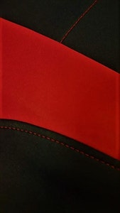 Universal Ultra Light Neoprene Rear Seat Covers Size 06/08S | Black/Red