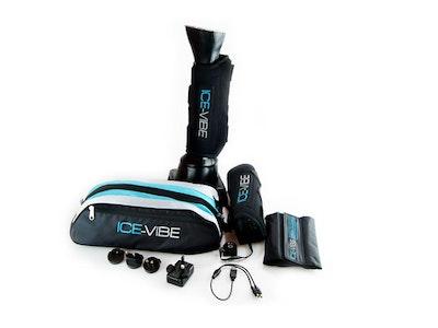 AMACRON Ice Vibe Boot Extra Full - Black/Aqua (For Larger boned horses and hind legs)