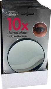 Tender 10x Magnifying Mirror Glass with Suction Cups