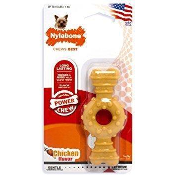 Nylabone Power Chew Textured Ring Bone Chew Toy