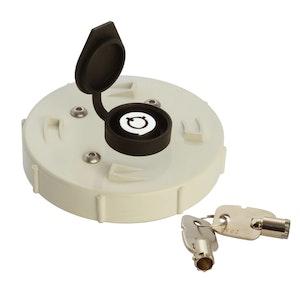 ADI Lockable Caps 90mm PVC Lockable Cap with Ring