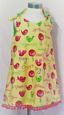 Handgrown Threads Dress - Size 2 - Pink Birds & Roses