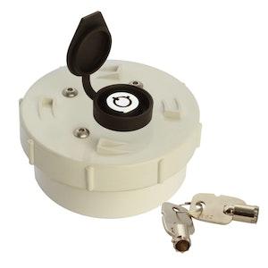 ADI Lockable Caps 90mm PVC Lockable Cap with Coupling
