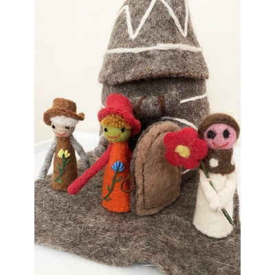 SparksJoi Grey Fairy Hut and Fairy Finger Puppets 2021